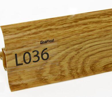 Напольный плинтус LinePlast Стандарт L036 Дуб магнатский