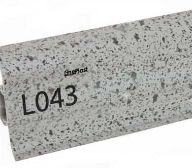 Напольный плинтус LinePlast Стандарт L043 Серый гранит