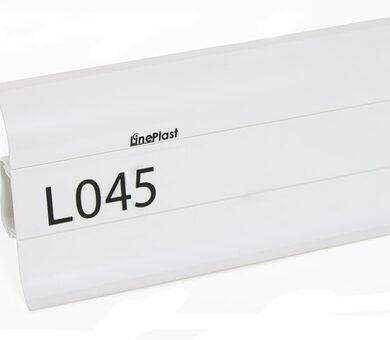 Напольный плинтус LinePlast L045 Белый