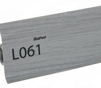 Напольный плинтус LinePlast L061 Серый дуб