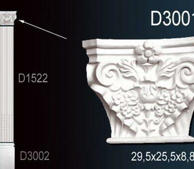 Капитель пилястры Перфект D3001