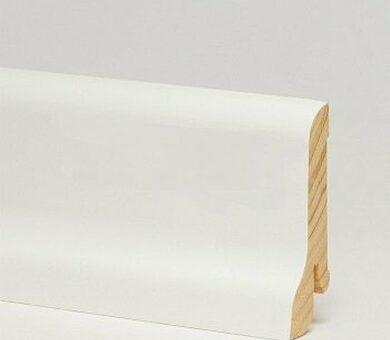 Плинтус Pedross 55x18x2500 мм Белый гладкий