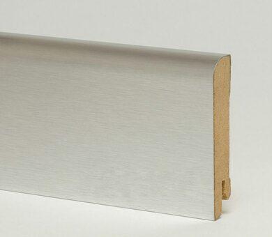 Плинтус Pedross 70x15x2500 мм Алюминий светлый