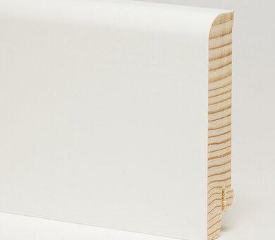 Плинтус Pedross 80x18x2500 мм R9 Белый гладкий