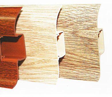 Пластиковый плинтус Ideal Comfort 55 мм в цвет вашего пола
