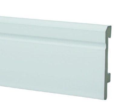 Плинтус Salag Sierra 80 Белый 01