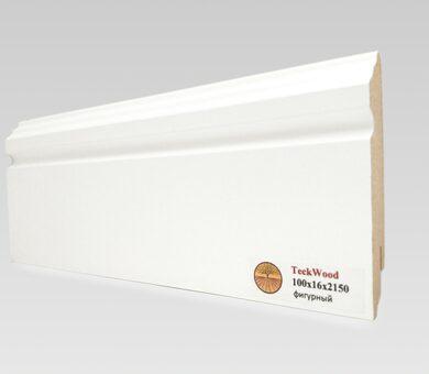 Teckwood 100х16 Белый фигурный