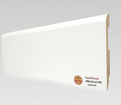 Плинтус Teckwood 100x16 Белый прямой