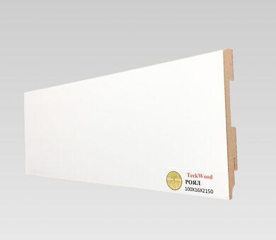 Плинтус Teckwood 100x16 Белый Роял
