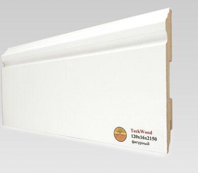 Плинтус Teckwood 120x16 Белый фигурный