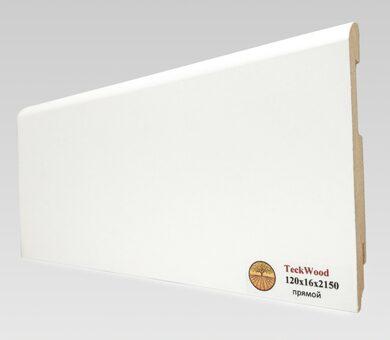 Плинтус Teckwood 120x16 Белый прямой
