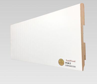 Плинтус Teckwood 120x16 Белый Роял