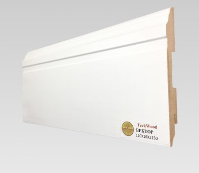 Плинтус Teckwood 120x16 Белый  Вектор