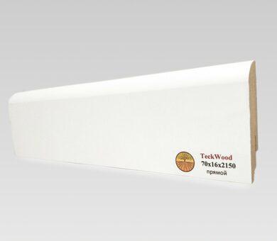 Плинтус Teckwood 70x16 Белый прямой