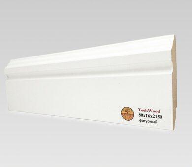 Плинтус Teckwood 80x16 Белый фигурный