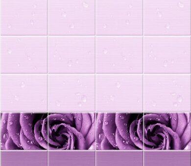StarLine Плитка 3D Капли Росы Фиолетовый