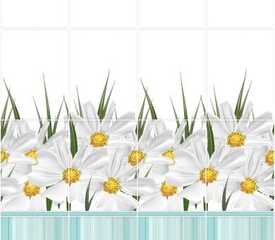 StarLine Плитка 3D Ромашка Бирюза