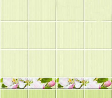 StarLine Плитка 3D Яблоневый цвет зеленый фон
