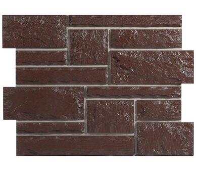 Цокольный сайдинг Holzplast Бут Темно-коричневый