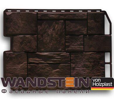 Цокольный сайдинг Holzplast Туф Темно-коричневый