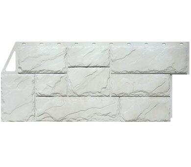 Фасадная панель FineBer Крупный камень Мелованный белый