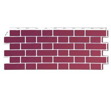 Фасадная панель FineBer Облицовочный кирпич Britt Йорк темно-розовый