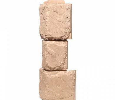 Угол наружный Фасайдинг Дачный Камень крупный