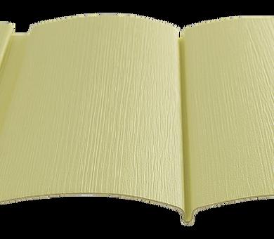 Виниловый сайдинг Tecos Двойной оцилиндрованный брус Светло-желтый