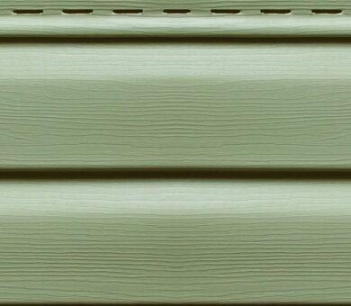 Виниловый сайдинг Ю-Пласт Корабельный брус Зеленый